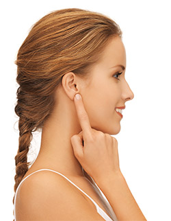 Woman Waering Hearing Aid